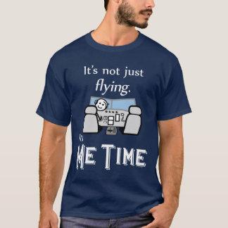 私時間の飛行(暗い) Tシャツ