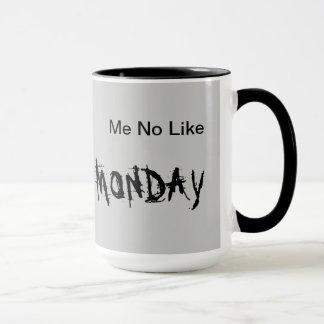 私月曜日のマグのようにいいえ マグカップ