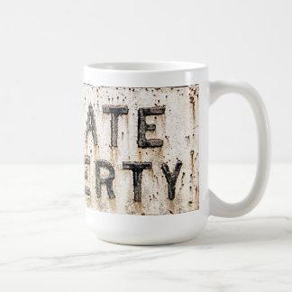 私有地のマグ コーヒーマグカップ