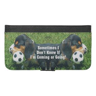 私来るか、または行くビーグル犬の子犬かどうか知らないで下さい iPhone 6/6S PLUS ウォレットケース