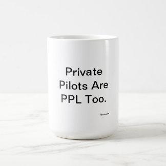 私用パイロットはPPLですも コーヒーマグカップ