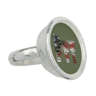 私用米国の軍の緑のアメリカ人Pvt 指輪