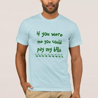 私私の手形のティーのワイシャツを支払ってもよい Tシャツ
