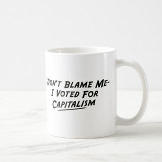私私の投票しました資本主義のために責任にしないで下さい コーヒーマグカップ