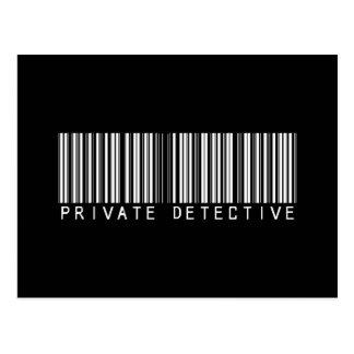 私立探偵のバーコード ポストカード