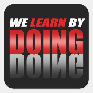 私達がすることによって学ぶRed|Black スクエアシール