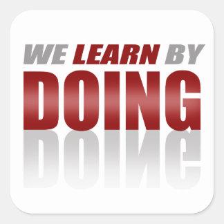 私達がすることによって学ぶRed|Gray スクエアシール