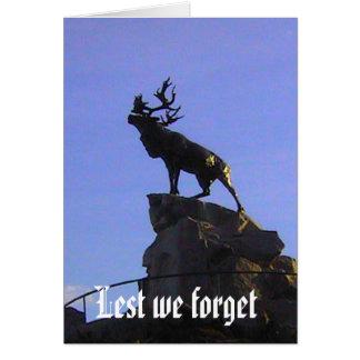 私達がカリブーの記念物を忘れる カード