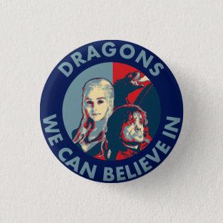 私達がキャンペーンボタンで信じてもいいドラゴン(小さい) 3.2CM 丸型バッジ