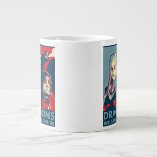 私達がキャンペーンマグ(正方形)で信じてもいいドラゴン ジャンボコーヒーマグカップ