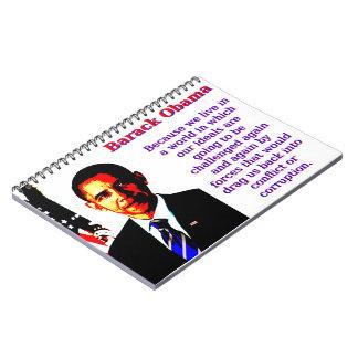私達が世界-バラック・オバマに住んでいるので ノートブック