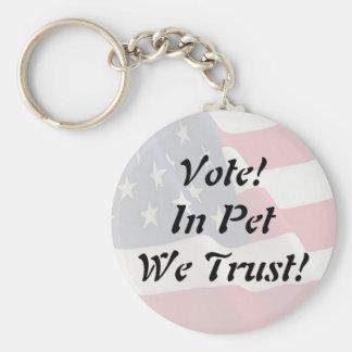 私達が信頼する投票ペット キーホルダー