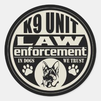 私達が信頼する犬のK9単位 ラウンドシール
