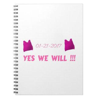 私達が女性の3月のYES ノートブック