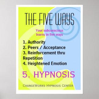 私達が学ぶ5つの方法 ポスター