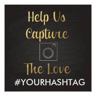 私達が愛Hashtagを捕獲するのを救済して下さい ポスター