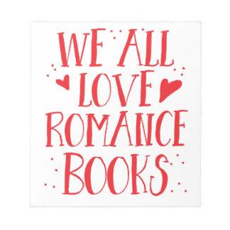 私達すべて愛ロマンスの本 ノートパッド