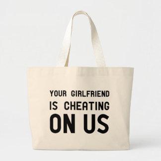 私達でガールフレンドごまかしています ラージトートバッグ