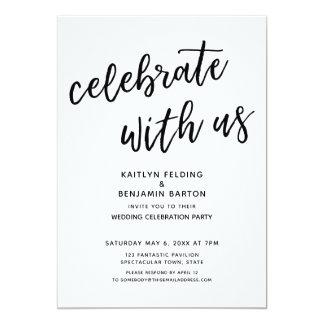 """""""私達と""""カジュアルでモダンな結婚披露宴を祝って下さい カード"""