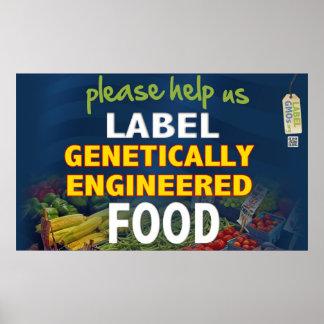 私達にラベルGMOの食糧を救済して下さい! ポスター