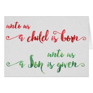 私達に子供は生まれるクリスマスカードです カード