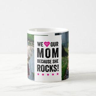 私達のお母さんは写真のマグを揺すります コーヒーマグカップ