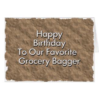 私達のお気に入りのな食料雑貨Baggeへのハッピーバースデー カード