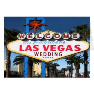 私達のすばらしいラスベガスの結婚式の招待状への歓迎 グリーティングカード