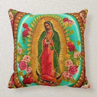 私達のグアダルペ女性メキシコ聖者聖母マリア クッション