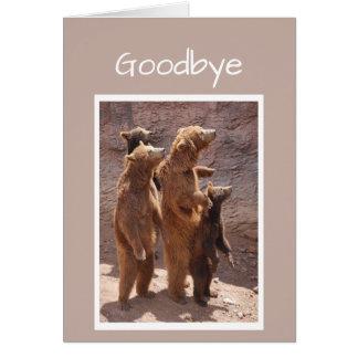 私達のグループからのさようならそして幸運くま カード