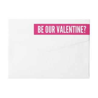 私達のバレンタイン|のモダンなピンクがあって下さい ラップアラウンドラベル