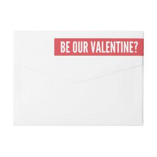 私達のバレンタイン|のモダンな赤があって下さい ラップアラウンドラベル