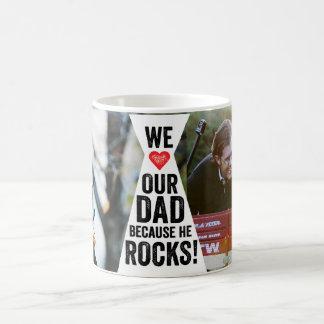 私達のパパは写真のマグを揺すります コーヒーマグカップ
