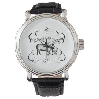 私達のヒツジ-おもしろいでフランスのな農場へ戻ること 腕時計