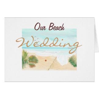 私達のビーチ結婚式 カード