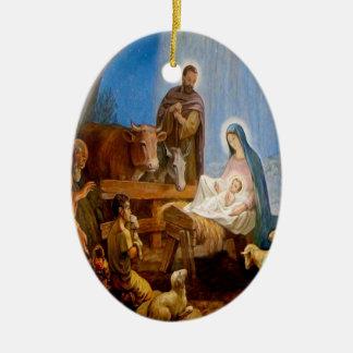 私達の主および救助者イエス・キリストの誕生 セラミックオーナメント