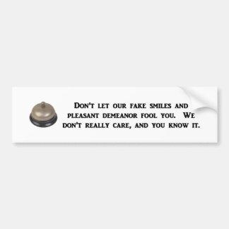 -私達の偽造品スマイルおよび気持が良振舞いは バンパーステッカー