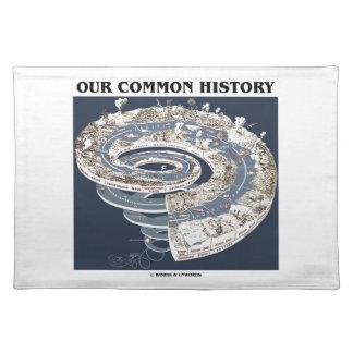私達の共通の歴史(地球の歴史のタイムラインの螺線形) ランチョンマット