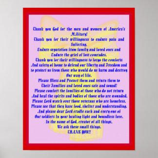 私達の兵士のための祈りの言葉 ポスター