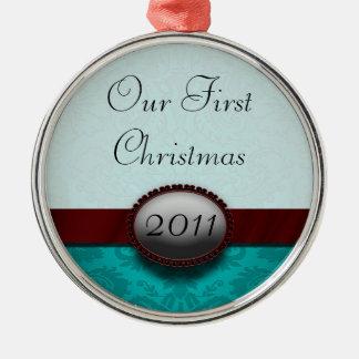 私達の初めてのクリスマスのTiffiのコレクションのオーナメント メタルオーナメント