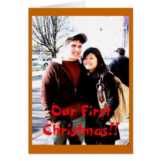 私達の初めてのクリスマス!! カード
