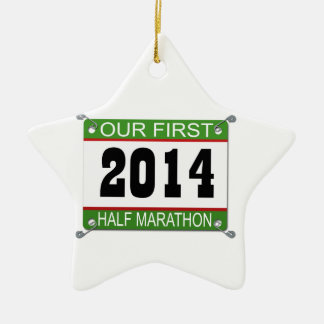 私達の前半のマラソンのオーナメント- 2014年 セラミックオーナメント