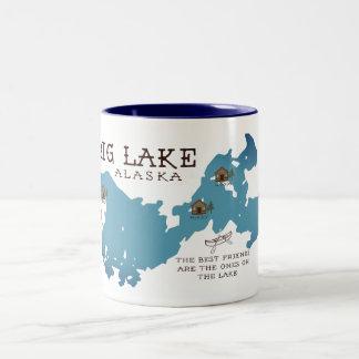 私達の友人のための大きい湖の小屋のマグ ツートーンマグカップ