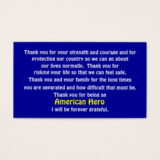 私達の国に役立つためにありがとう 名刺
