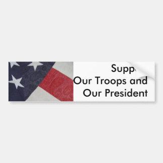 私達の国家のためのサポート及び恐怖の戦いを示して下さい バンパーステッカー