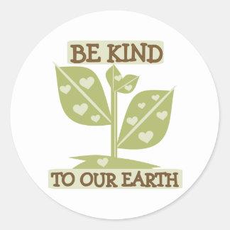 私達の地球に親切があって下さい ラウンドシール