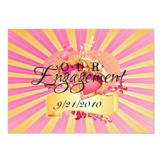 私達の婚約 12.7 X 17.8 インビテーションカード