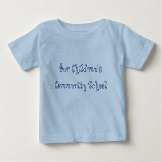 私達の子供のコミュニティースクールの乳児のTシャツ ベビーTシャツ