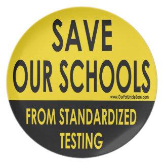 私達の学校を救って下さい プレート