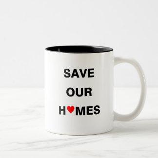 私達の家のマグを救って下さい ツートーンマグカップ